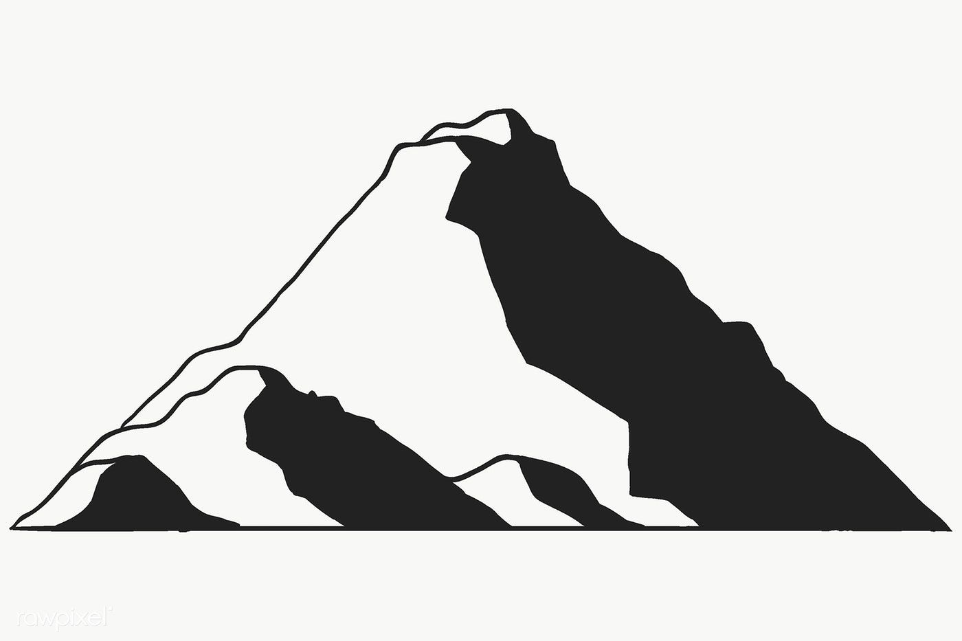 Mountain Shape For Logo Transparent Png Free Image By Rawpixel Com Te Mountain Images Stock Images Free Png