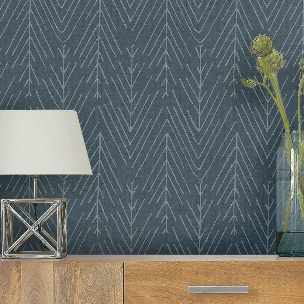 Twig Hygge Herringbone Peel And Stick Wallpaper In 2021 Peel And Stick Wallpaper Room Visualizer Herringbone Wallpaper