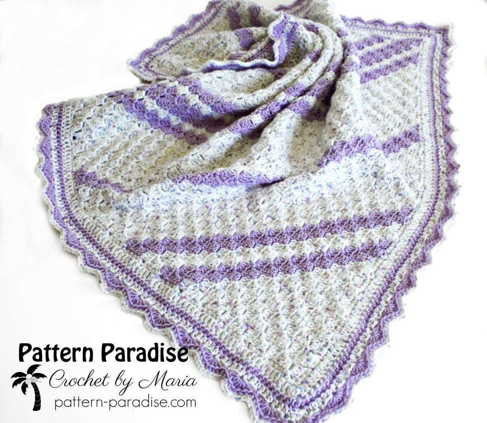 Lavender Baby Blanket Crochet Pattern   baby   Pinterest