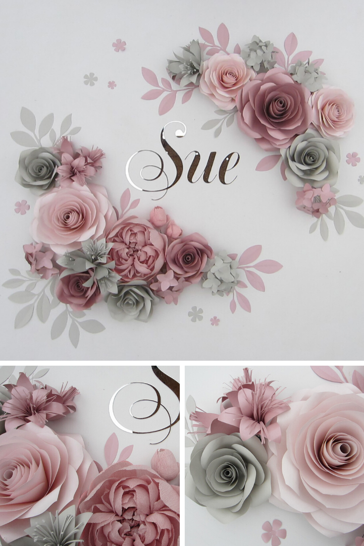 Paper Flowers Wall, Nursery Wall Decor, Large Paper Flowers Backdrop