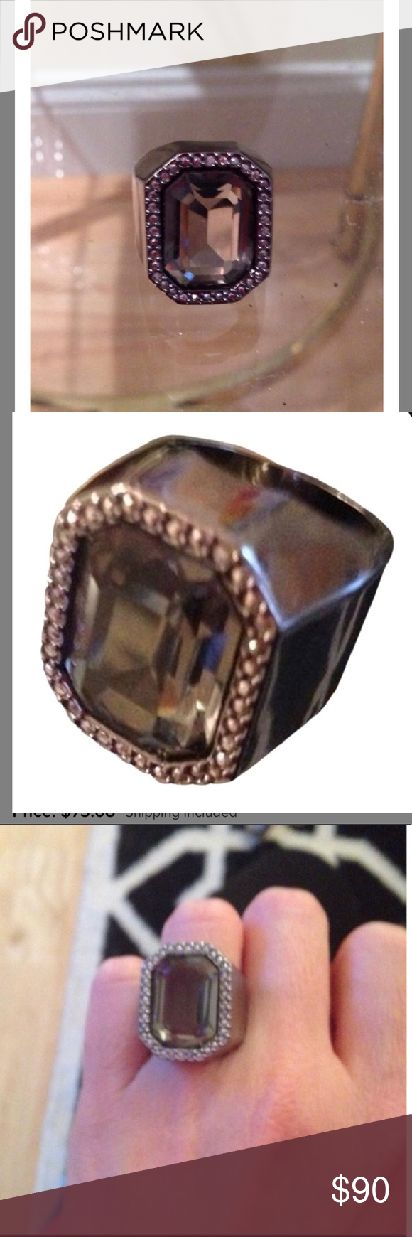 f4688f203 Swarovski Comet Meteor Black Crystal Pave Ring 5.5 Retail price $170.00.  Genuine/Authentic Swarovski
