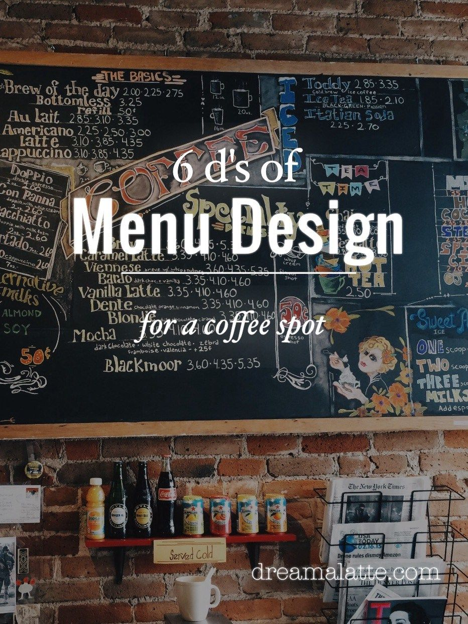 Creating A Coffee Shop Menu Coffee Shop Menu Coffee Shop Business Starting A Coffee Shop