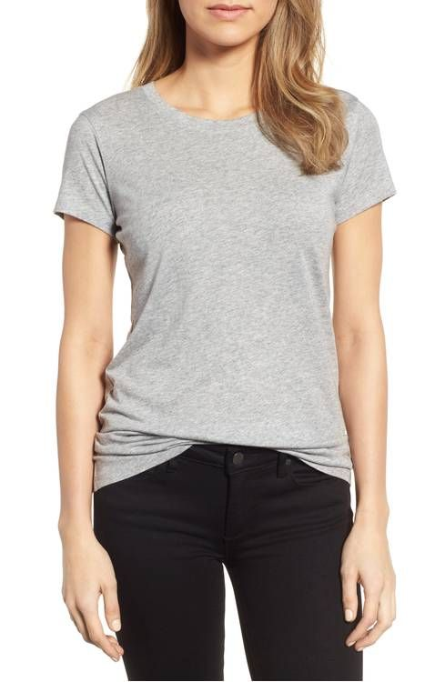 1b8890cb271 Main Image - Halogen® Short Sleeve Crewneck Tee (Regular & Petite ...