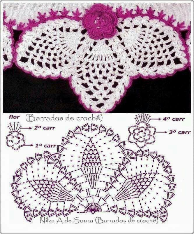 Pin de Daniela Cortez en Crochet | Pinterest | Cadeneta, Puntadas y ...
