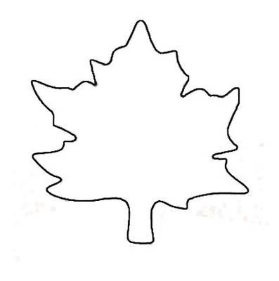 Leaf Template or Coloring Page Children writing, Leaves and Template