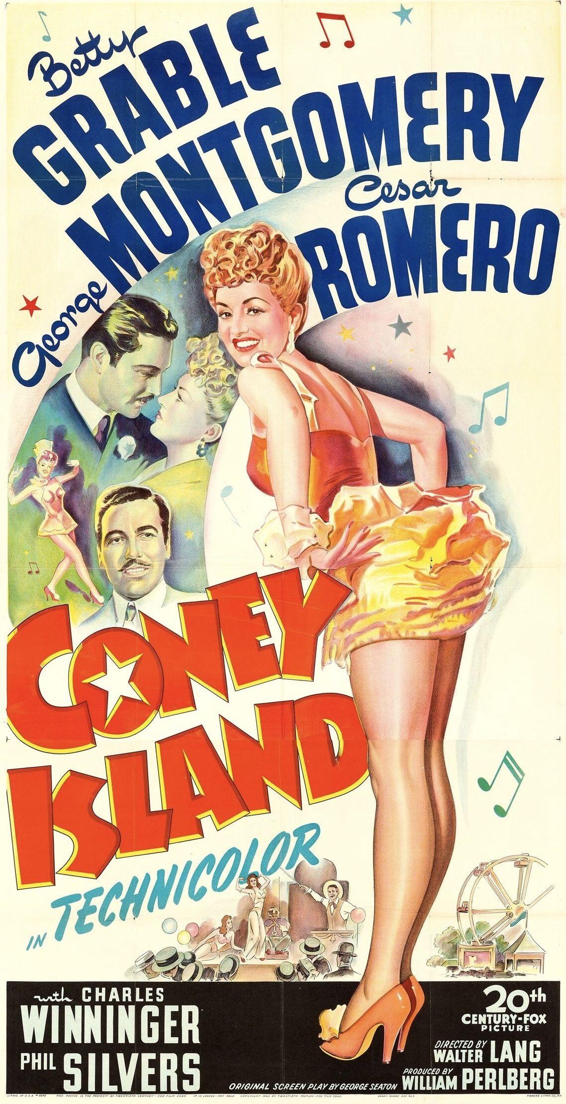 Coney Island 20th Century Fox 1943 Classic Film Movie
