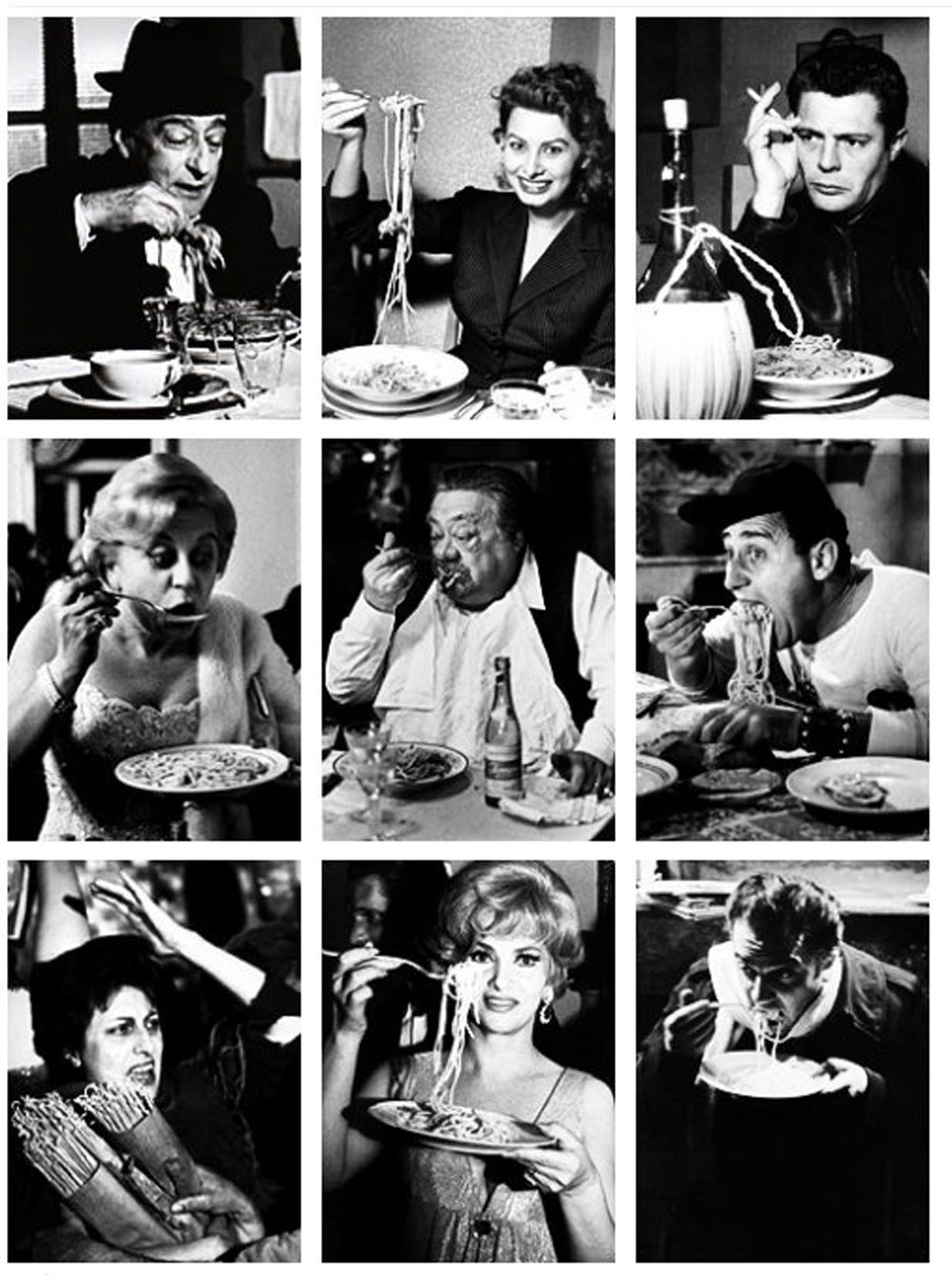 TEASER PHOTO GRID FROM SHOOT Italian actors eating pasta | Pasta italiana, Italian culture, Cinema