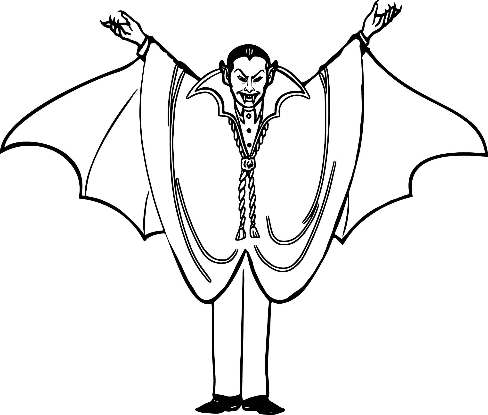 awesome Halloween Vampire Coloring Page