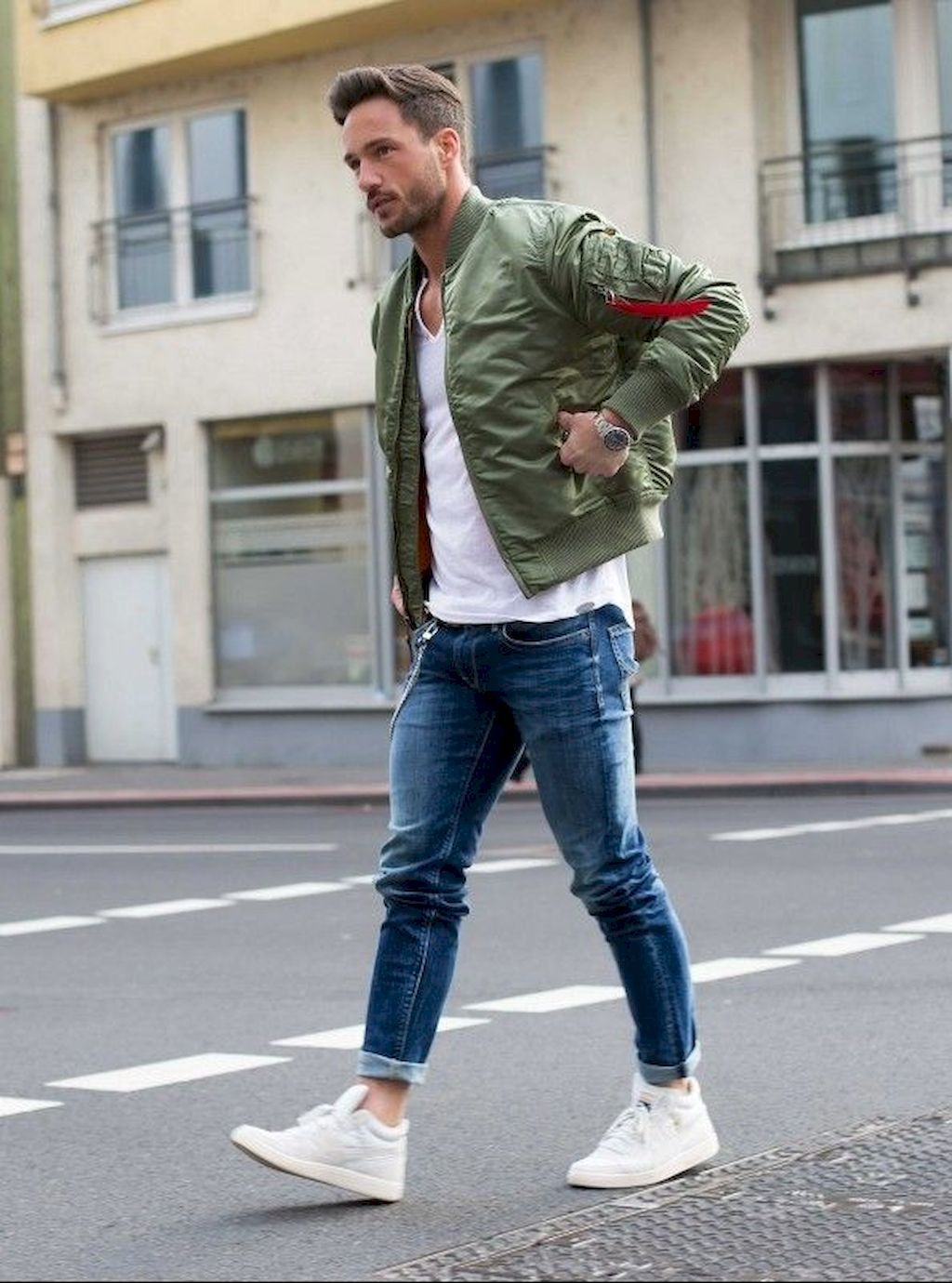 Adorable 30 Men Outfit Ideas With Bomber Jacket Bomber Ideas Jacket Men Outfit Bomber Jacket Fashion Mens Outfits Men Casual [ 1380 x 1024 Pixel ]