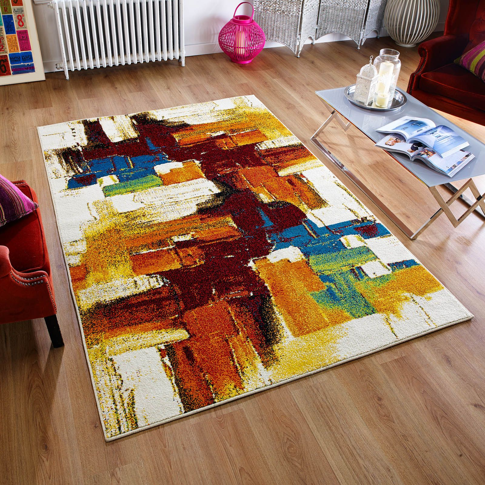 cuba rugs 8022-e feature an abstract design with vibrant colour