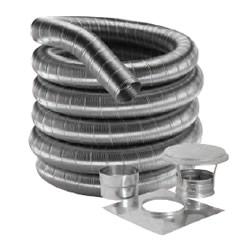 Stainless Steel Flexible Chimney Flue Liner Single Skin Gas Pipe Stove Tube