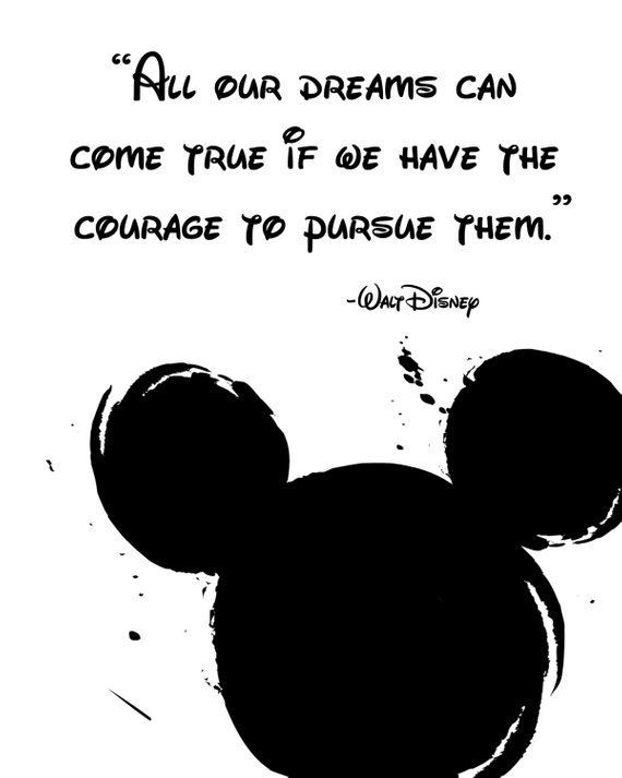 """Photo of Disney Quote Poster, Digital Download, Children's Decor, Printable Wall Art, Mickey Mouse, Prints, """"All our dreams can come true if we have"""