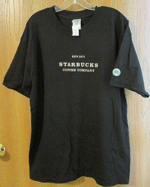 STARBUCKS COFFEE COMPANY EST 1971 Black Anniversary Mermaid Large T-Shirt NWT…
