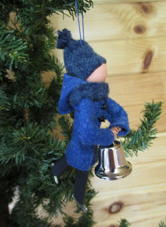 Ice Skater Christmas Ornament - Gentleman, Clothespin Ornament ...