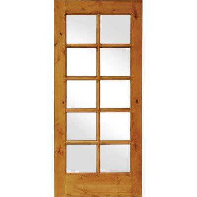 Krosswood Doors 36 In X 80 In Knotty Alder 10 Lite Low E Insulated Glass Solid Right Hand Wood Single Prehung Interior Door Ka 410 30 68 134 Rh The Home Dep Prehung Interior Doors Doors Interior Glass Doors