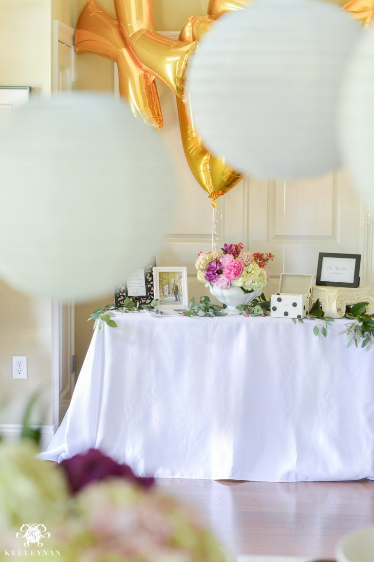 Southern garden party bridal shower ideas welcome table indoor also spring rh pinterest
