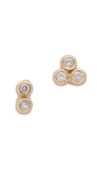 Blanca Monros Gomez Asymmetrical Seed Stud Earrings 375