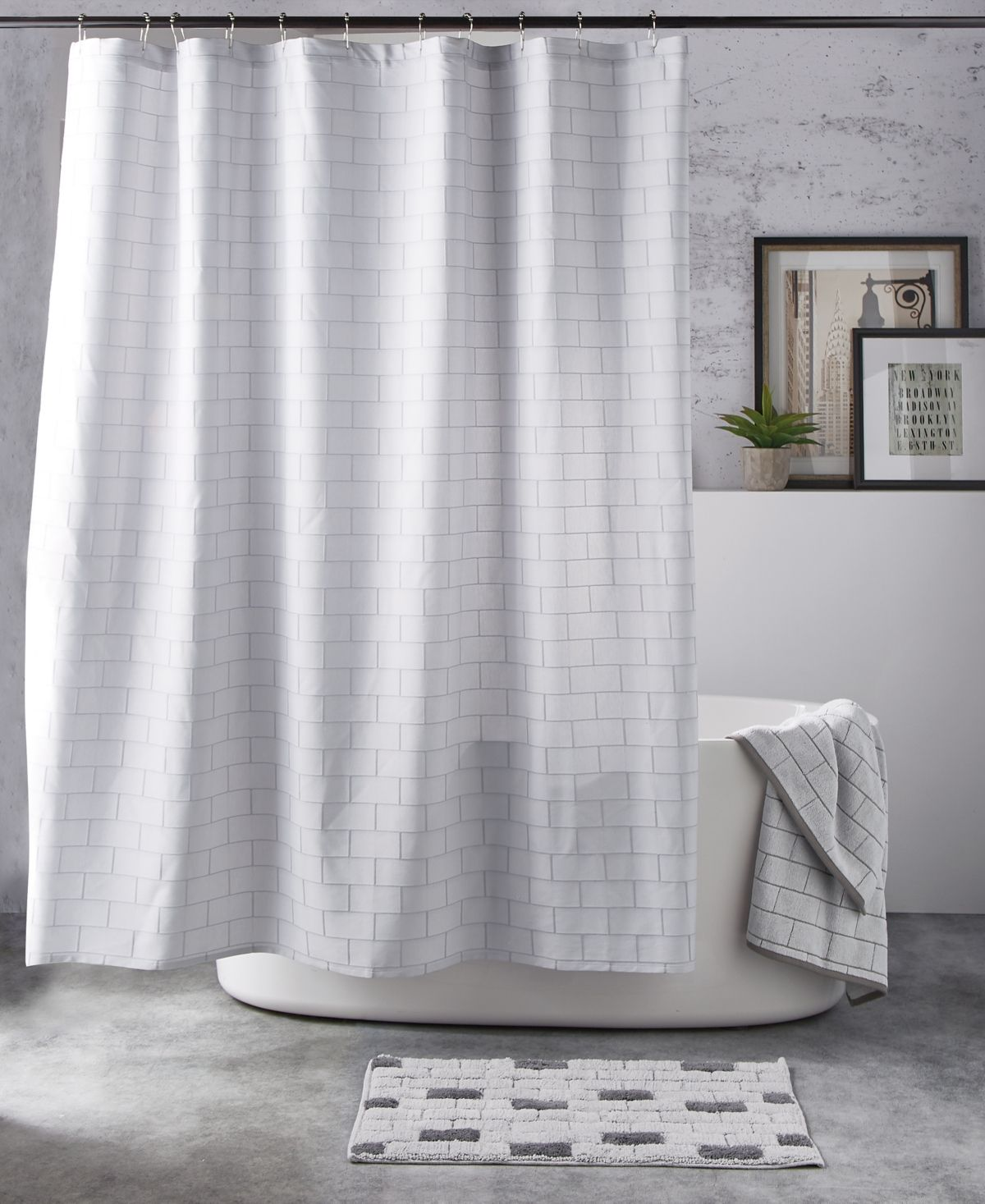 Dkny Subway Tile Bath Accessories Collection Reviews Bathroom