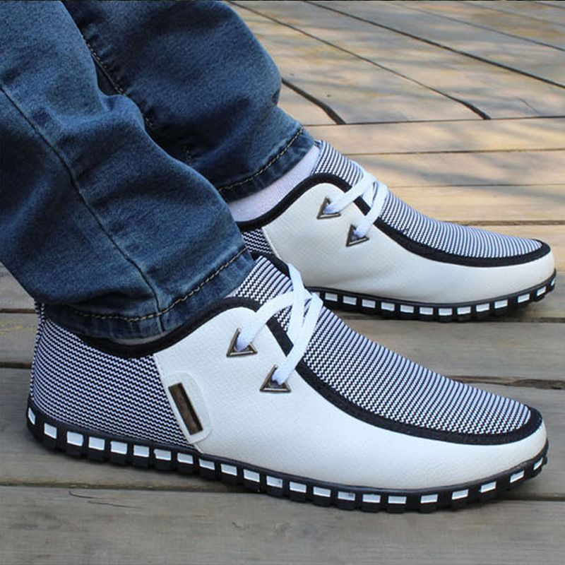 Find More Loafers Information about Big Size 45 46 Men Shoes White Casual Flat Loafers Spring