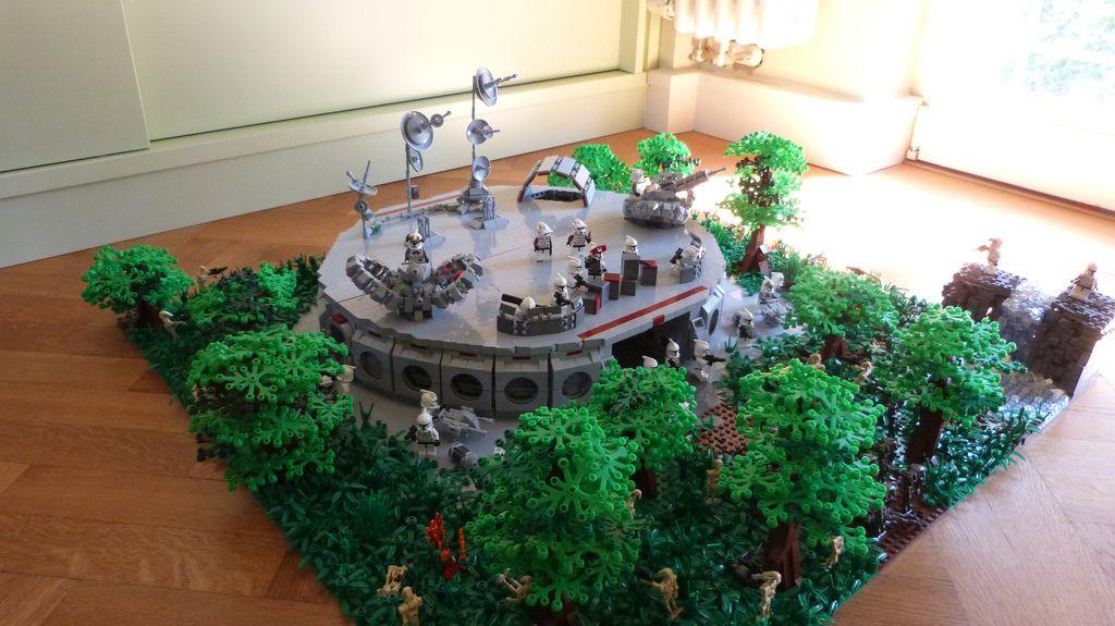 Lego Star Wars Base On Endor Lego Pinterest Lego Star Wars
