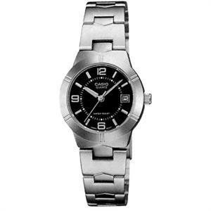 Casio General Ladies Watches Metal Fashion LTP-1241D-1ADF - WW Casio. $28.97. Water Resistant. 3-Hand Analog, Date Display. Accuracy: +/-20 seconds per month. Module 3363, Case Size:  25mm Diameter, 8.5mm Thickness. Battery SR626SW, Approx. battery life: 3 years. Save 36%!