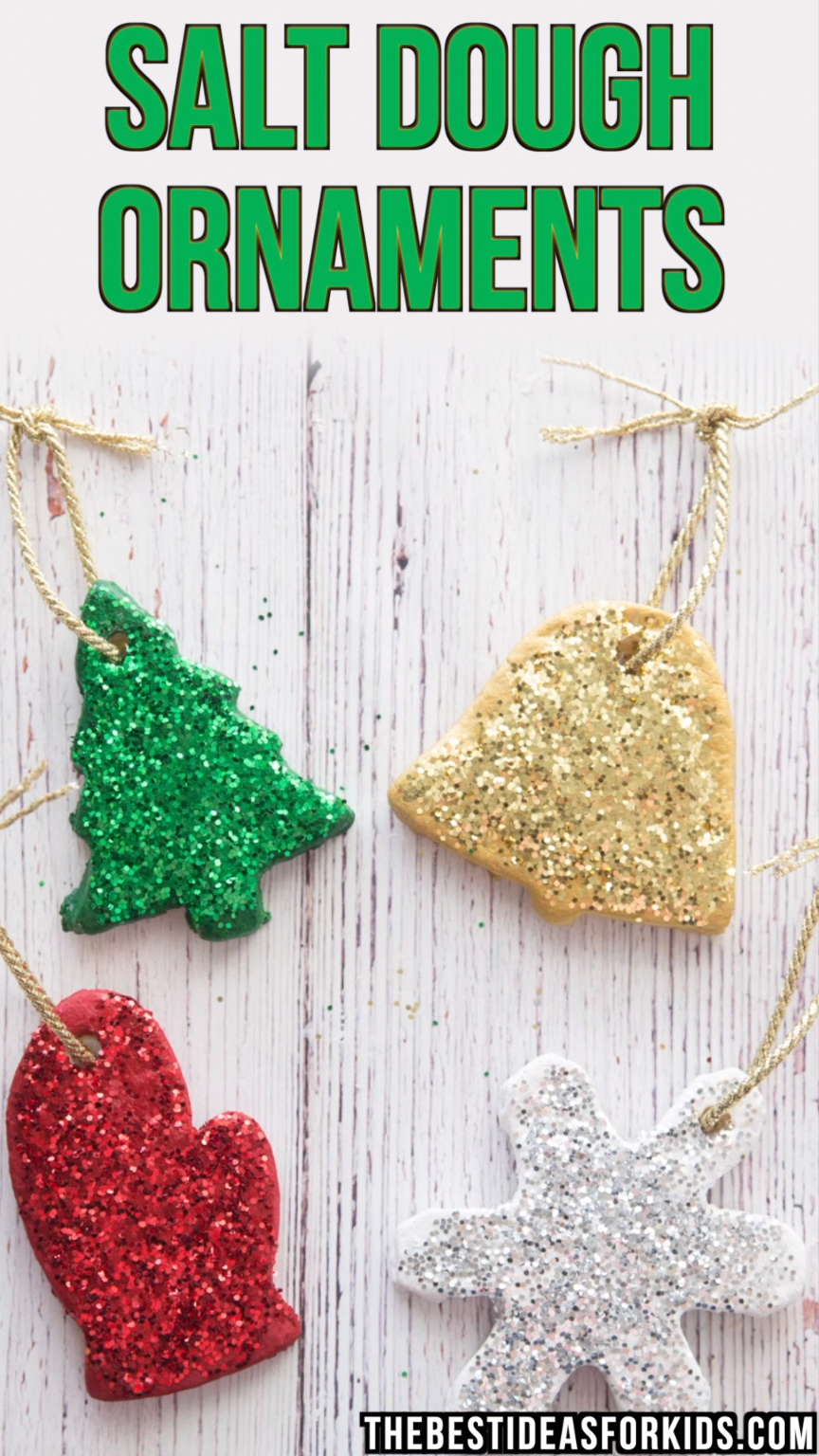 SALT DOUGH ORNAMENTS - these diy salt dough ornaments are so fun to make! These make perfect #christmas gifts or even just to make to put up on your Christmas tree. #bestideasforkids #saltdoughornaments