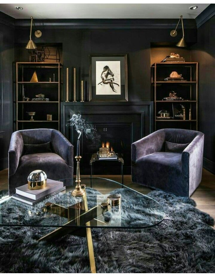 Pin By T Weber Nader On Dark Colorful Style Dark Living Rooms