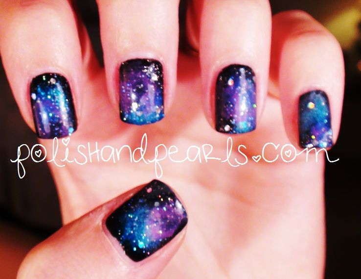 How To Galaxy Nail Tutorial Next Thing I Will Be Trying