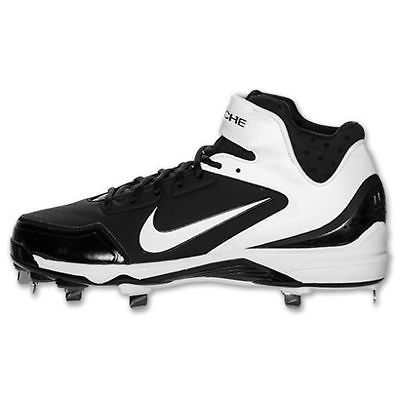 NEW Sz 12.5 Nike Air Huarache 2KFresh Metal Baseball Cleats 467796-011 MSRP $90