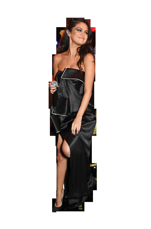 Selena Gomez Black Dress PNG Image Selena gomez black