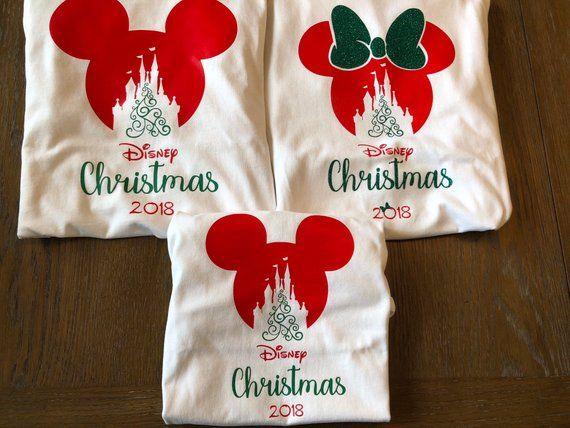 Christmas Vacation Shirts Family Matching Disney Minnie Head Castle