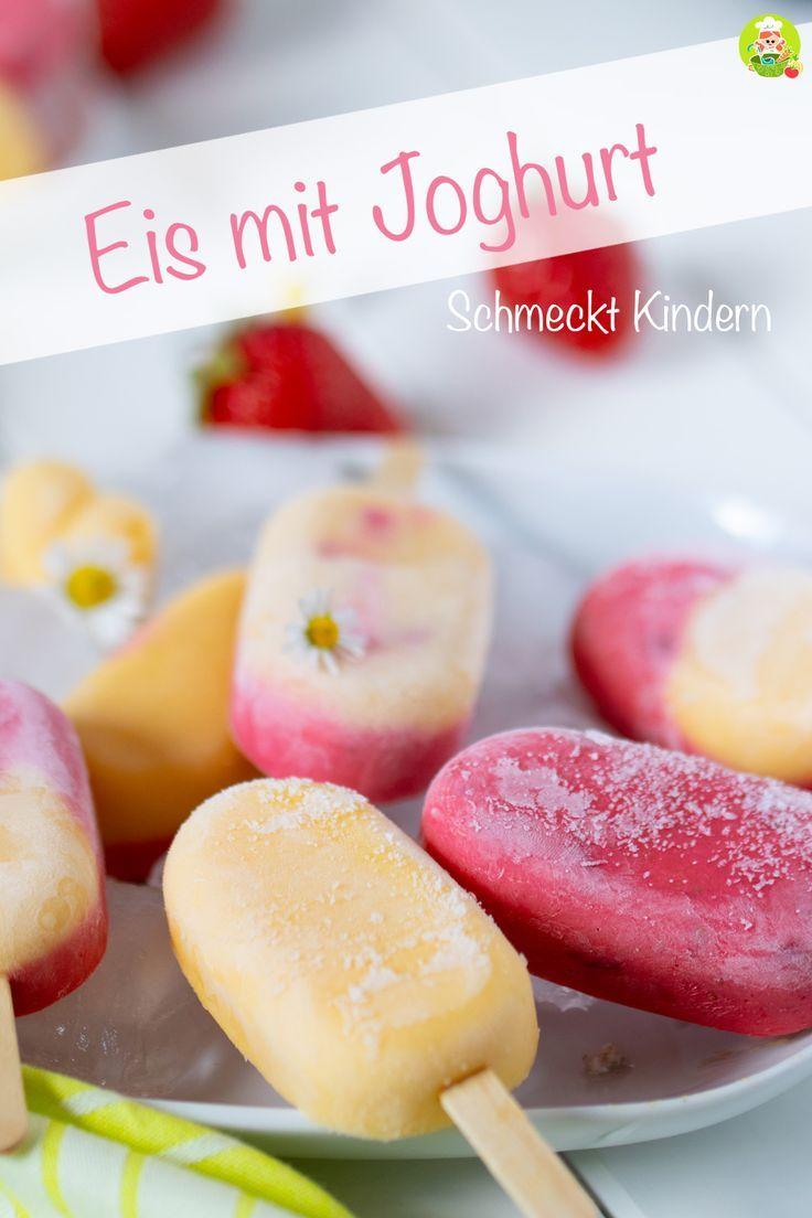 Erdbeereis mit Mangoeis, leckeres Eis am Stiel – MeineStube