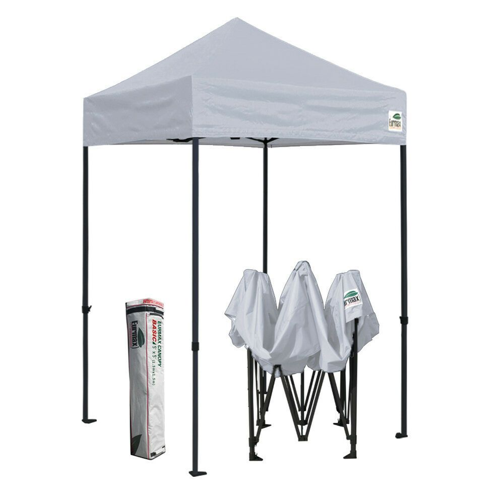 Advertisement Ebay Easy Pop Up Canopy 5x5 Gray Fair Patio Sport Folding Gazebo Shade Tent Shelter Shade Tent Gazebo Folding Gazebos