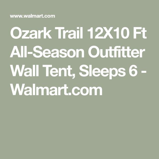 Ozark Trail 12X10 Ft All-Season Outfitter Wall Tent, Sleeps