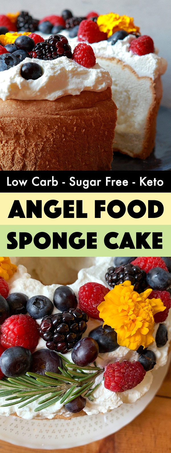 Low carb angel food cake is difficult to make, but ...