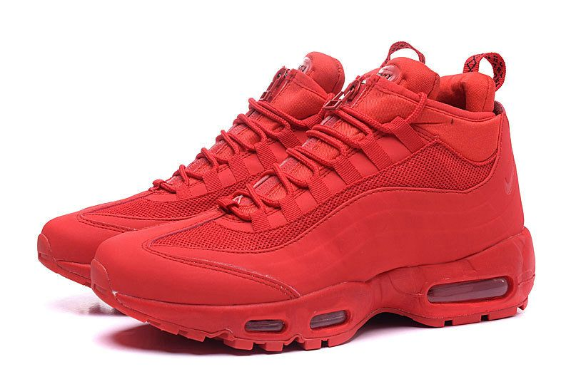 best service 64ee1 f7bbe Authentic Nike Air Max 95 Hyp PRM 20 Anniversary Mid Bright Crimson Sport  Red Nike Air Max 95 Wholesale