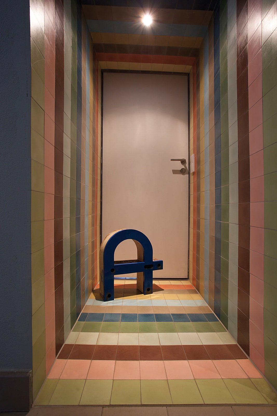 Via Zementfliesen Im Format 10x10 Cm Als Boden Wand Und Deckenplatte Zementfliesen Fliesen Und Zement