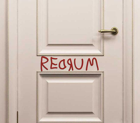 REDRUM Door decal from The Shining via Etsy............I want......no I NEED THIS!!!! lol & REDRUM Door decal from The Shining via Etsy............I want ...