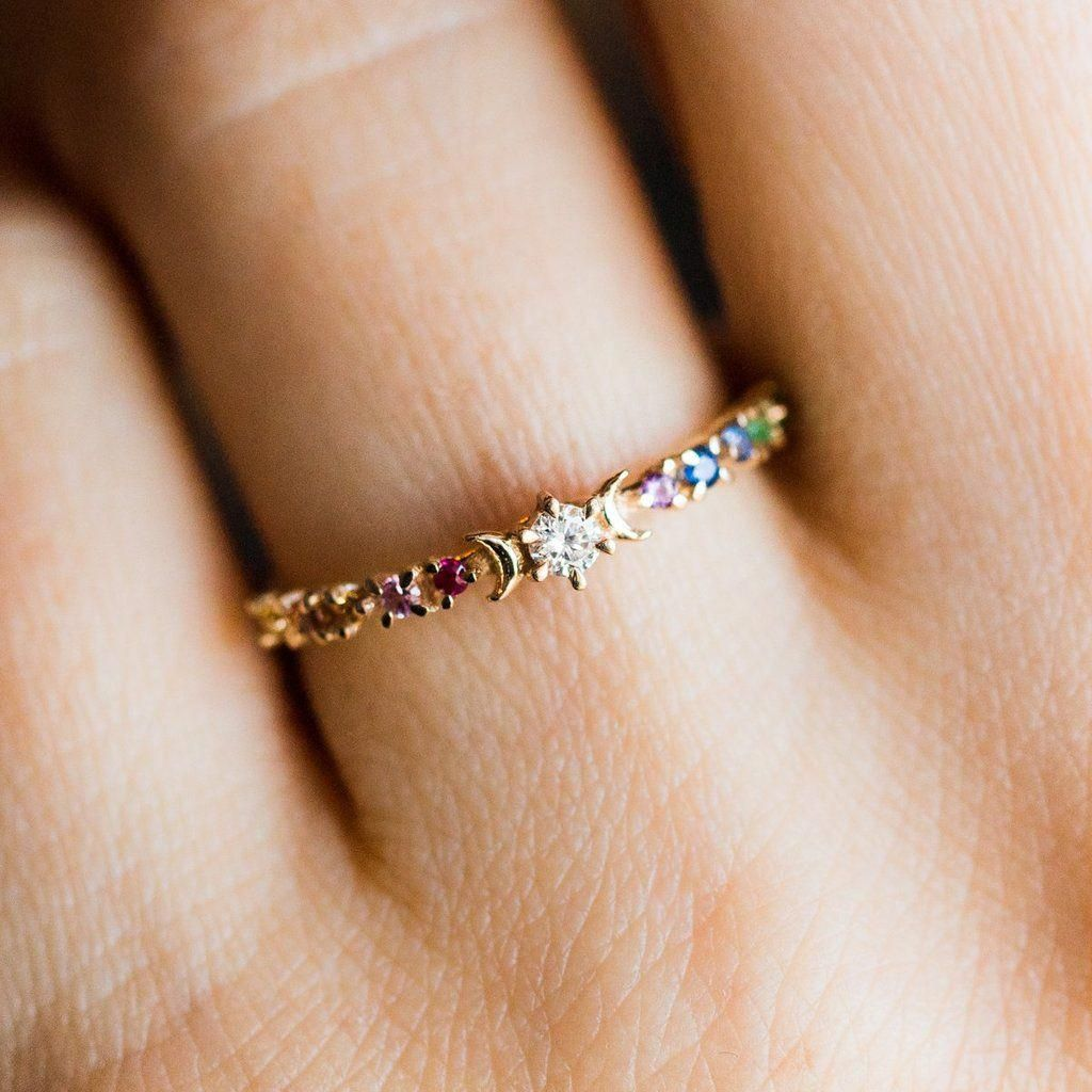Thick 14K Gold-Fill Cage ring, double bar ring, large gold ring, gold stack ring, gold cage ring, gold fill H ring – Fine Jewelry Ideas