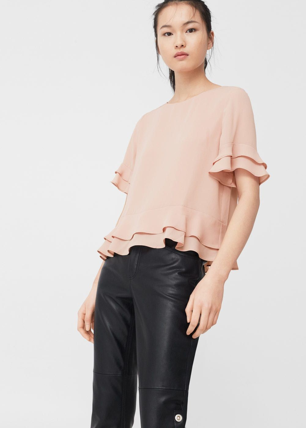 Find brown ruffle blouse at ShopStyle. Shop the latest collection of brown ruffle blouse from the most popular stores - all in one place.