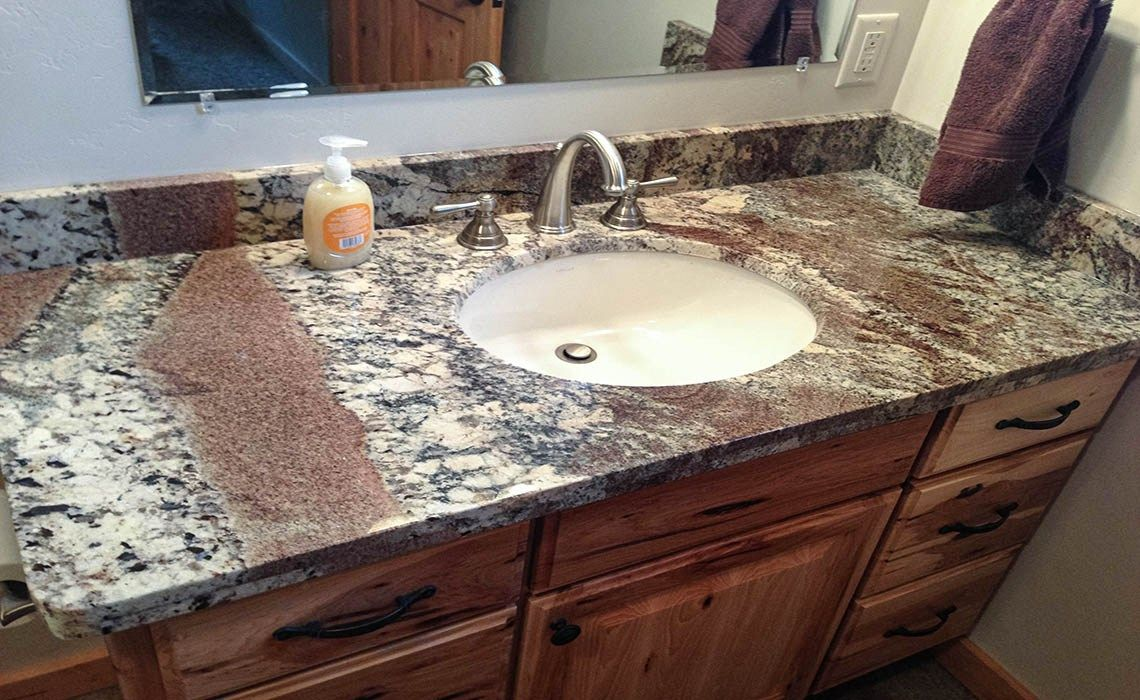 River Bordeaux Granite With A 4cm Eased Edge Bathrooms Remodel