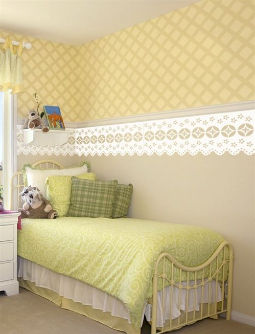 Lace border wall decals stickers | unique decor | Pinterest | Wall ...