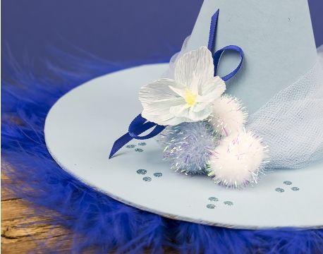 Ice Witch\u0027s Forget-Me-Not Hat Craft Idea the littlecraftybugs - halloween diy crafts