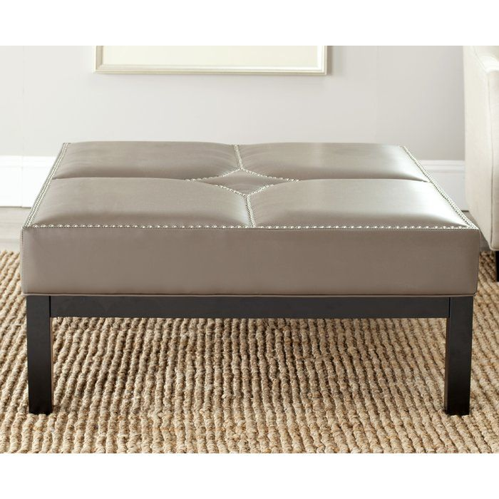 Renovate your room decor with the Brayden Studio Ottoman. This squared ottoman has a solid wood construction, which keeps it durable for several years to come. It features a splendid solid pattern, which is well-suited for modern home decor. The ottoman boasts unique tufted cushions, which adds style. The space-saving design of this ottoman makes it easy to keep anywhere in your room.