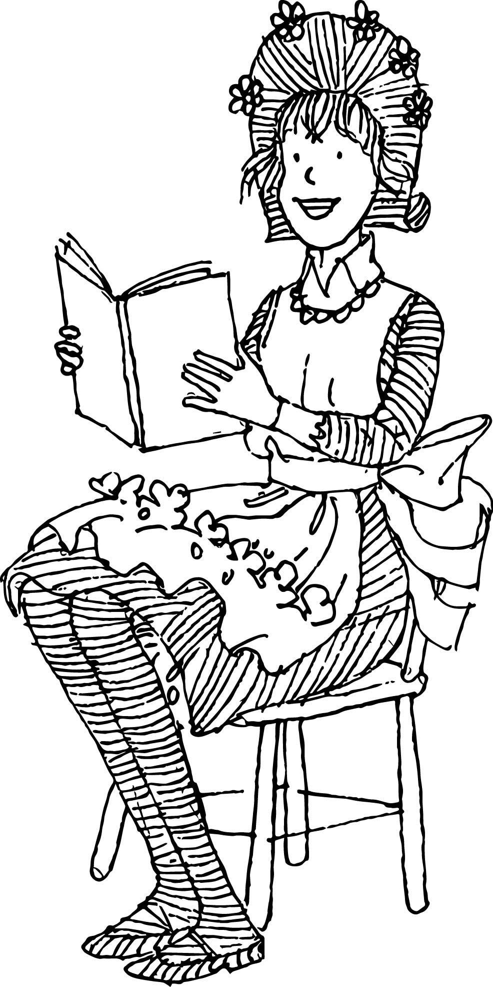 Nice Amelia Bedelia Reading Book Coloring Page Coloring Pages Coloring Books Amelia Bedelia