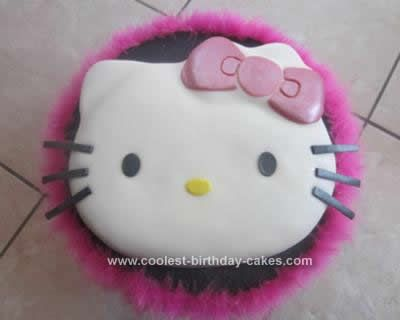 Coolest Hello Kitty Fondant Birthday Cake Hello kitty fondant
