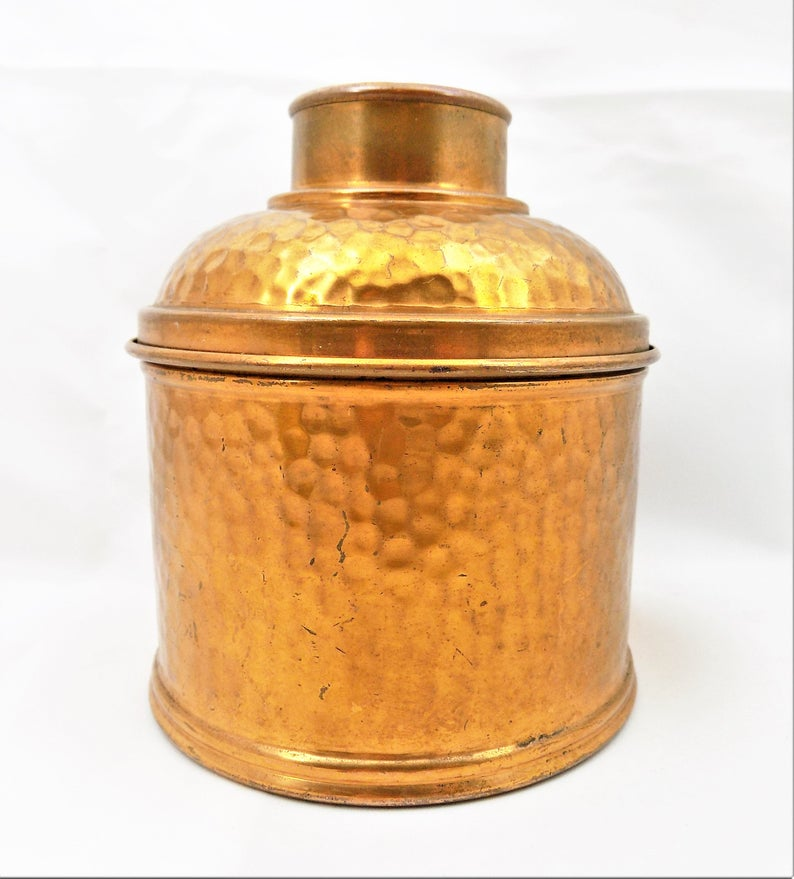 Copper Tea Caddy Revere Copper And Brass Metal Ware Etsy Tea Caddy Vintage Housewares Copper And Brass