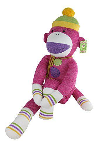Monkeez Friends Super Jumbo Sock Monkey Rosie Pink Includes