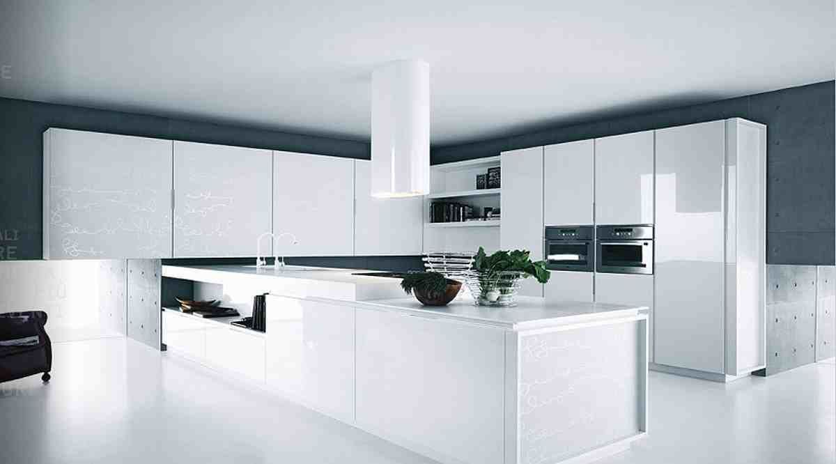 Best Appealing Glossy White Kitchen Cabinets 89 On Trends 400 x 300