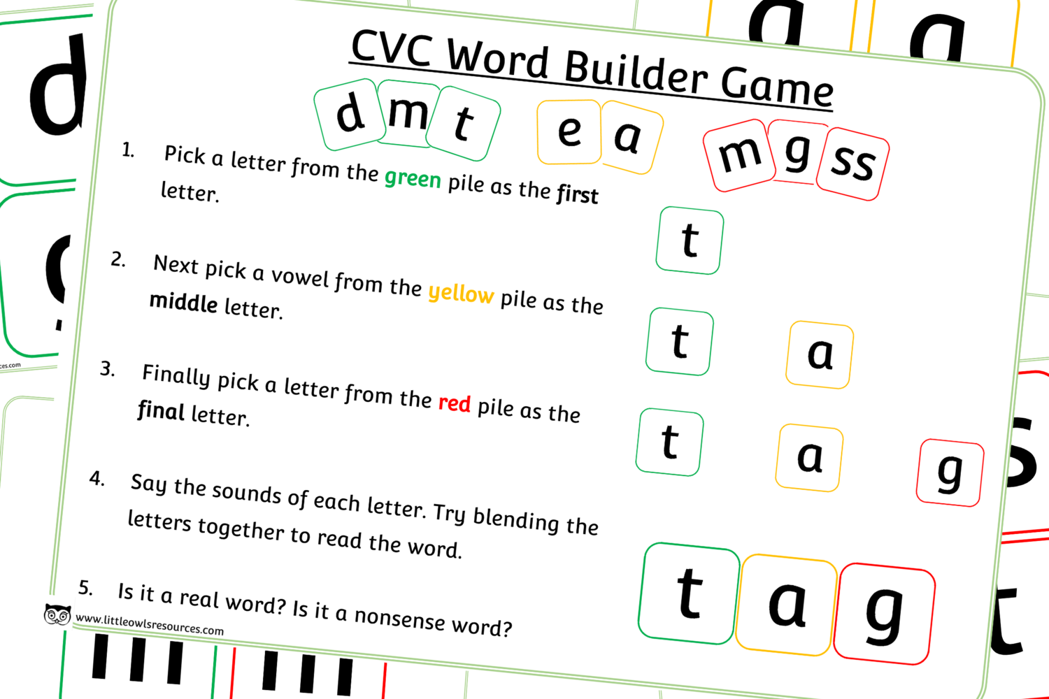 Free Phase 2 Cvc Word Builder Game Early Years Eyfs